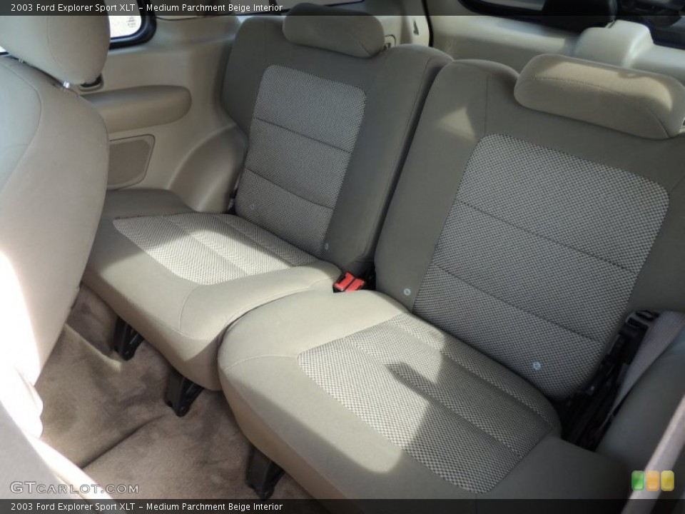 Medium Parchment Beige Interior Rear Seat for the 2003 Ford Explorer Sport XLT #74170790