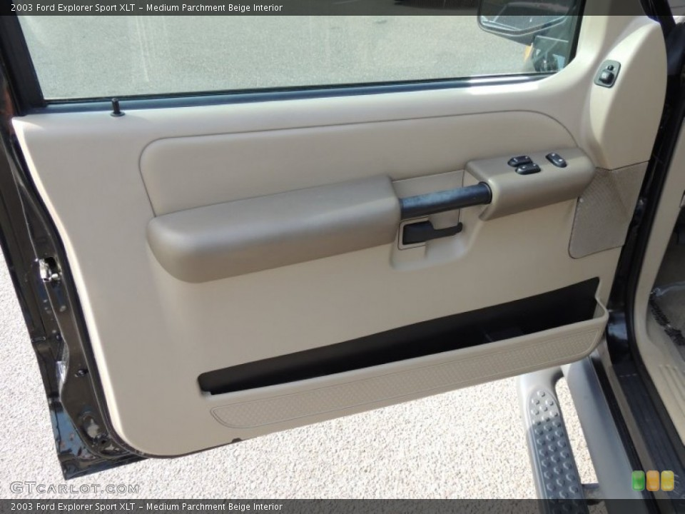 Medium Parchment Beige Interior Door Panel for the 2003 Ford Explorer Sport XLT #74170813