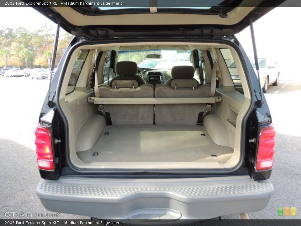 Medium Parchment Beige Interior Trunk for the 2003 Ford Explorer Sport XLT #74170948