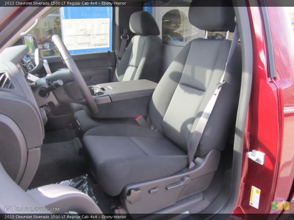 Ebony Interior Photo for the 2013 Chevrolet Silverado 1500 LT Regular Cab 4x4 #74173324