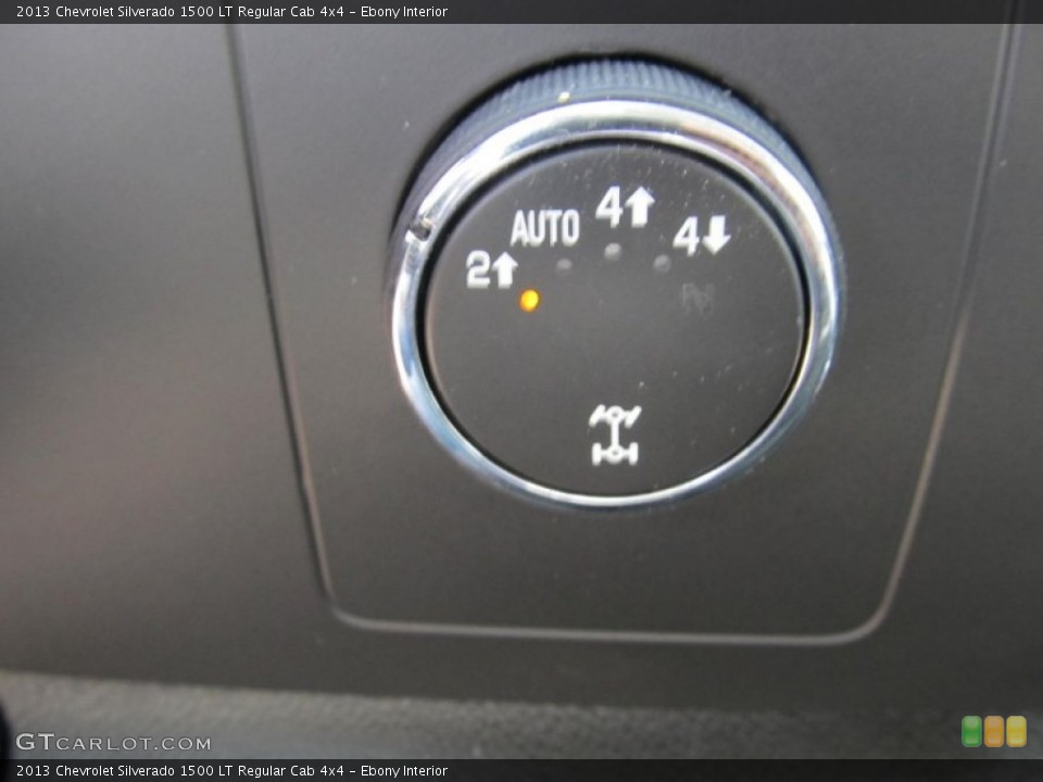 Ebony Interior Controls for the 2013 Chevrolet Silverado 1500 LT Regular Cab 4x4 #74173405