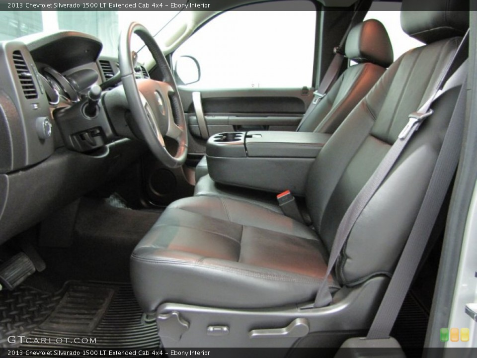 Ebony Interior Front Seat for the 2013 Chevrolet Silverado 1500 LT Extended Cab 4x4 #74206513
