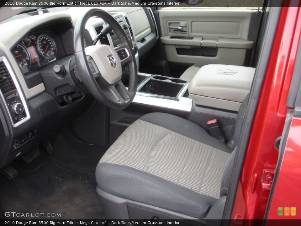 Dark Slate/Medium Graystone Interior Photo for the 2010 Dodge Ram 3500 Big Horn Edition Mega Cab 4x4 #74250979