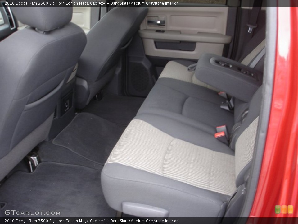 Dark Slate/Medium Graystone Interior Rear Seat for the 2010 Dodge Ram 3500 Big Horn Edition Mega Cab 4x4 #74250995