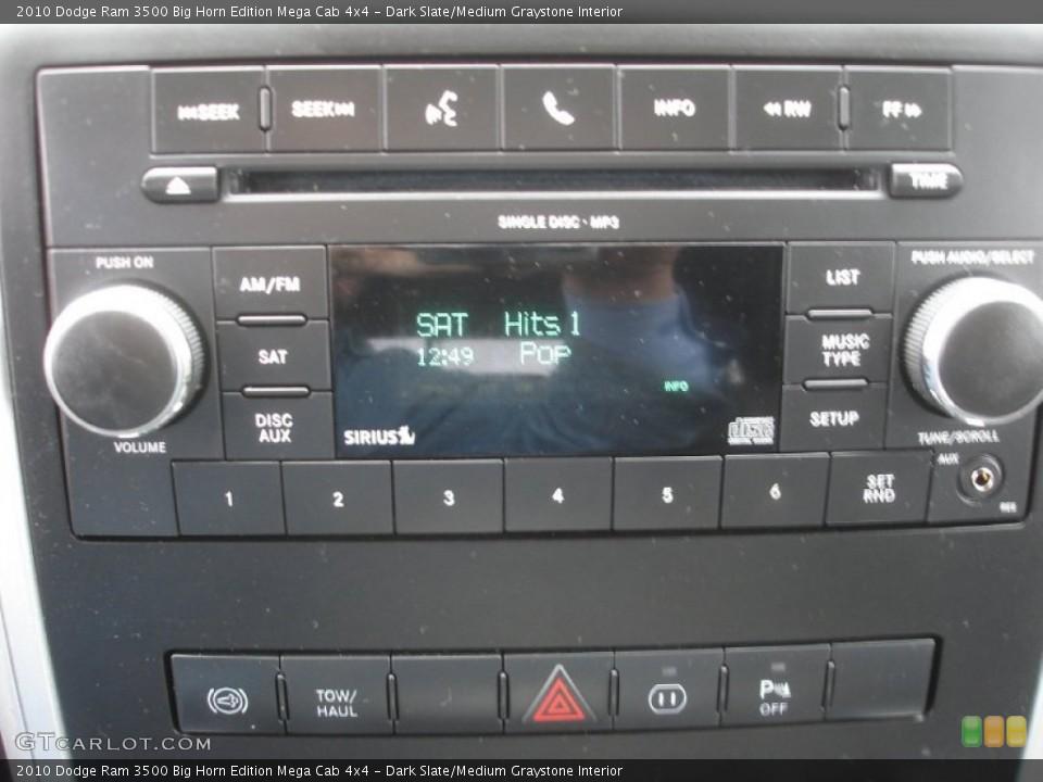 Dark Slate/Medium Graystone Interior Audio System for the 2010 Dodge Ram 3500 Big Horn Edition Mega Cab 4x4 #74251039