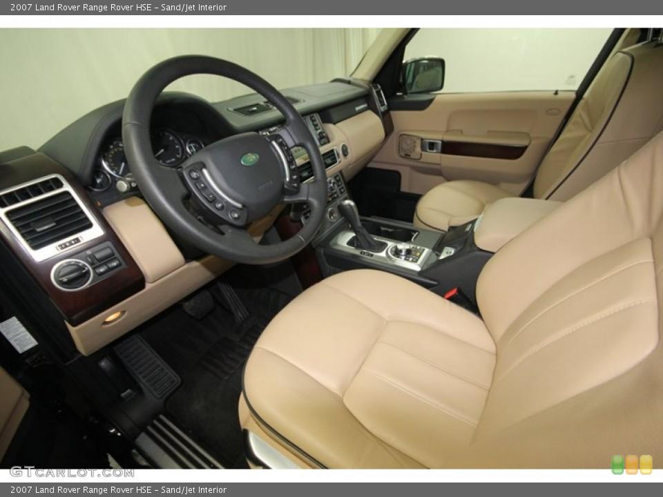 Sand/Jet 2007 Land Rover Range Rover Interiors