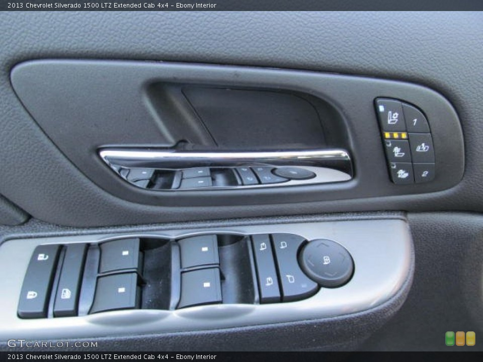 Ebony Interior Controls for the 2013 Chevrolet Silverado 1500 LTZ Extended Cab 4x4 #74348912