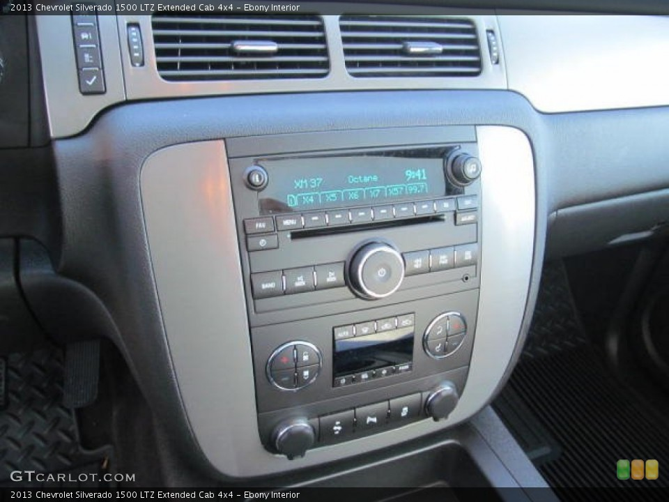 Ebony Interior Controls for the 2013 Chevrolet Silverado 1500 LTZ Extended Cab 4x4 #74348961