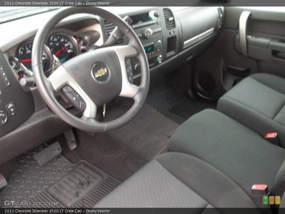 Ebony Interior Prime Interior for the 2011 Chevrolet Silverado 1500 LT Crew Cab #74553491