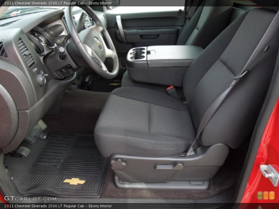 Ebony Interior Front Seat for the 2011 Chevrolet Silverado 1500 LT Regular Cab #74629089