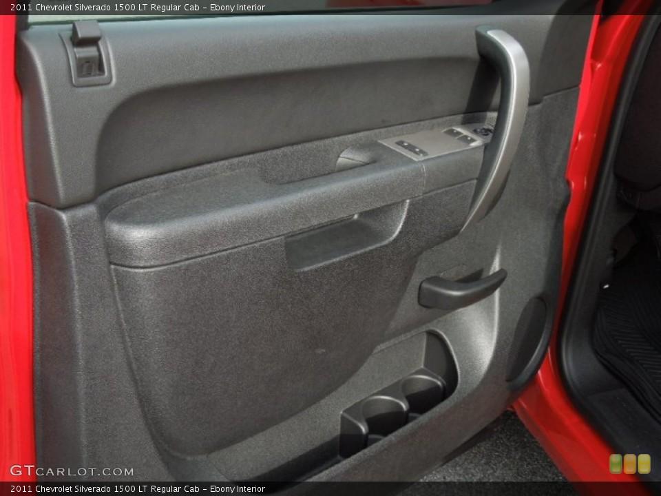 Ebony Interior Door Panel for the 2011 Chevrolet Silverado 1500 LT Regular Cab #74629134