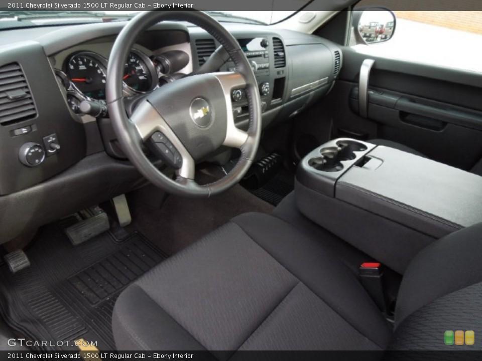 Ebony Interior Prime Interior for the 2011 Chevrolet Silverado 1500 LT Regular Cab #74629477