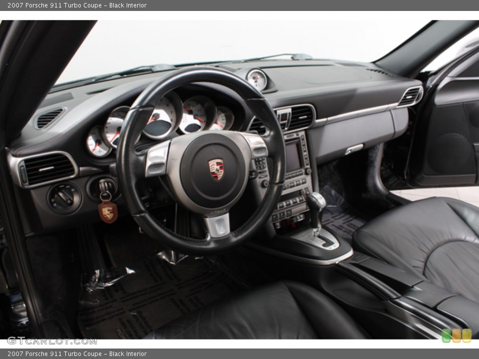 Black Interior Dashboard for the 2007 Porsche 911 Turbo Coupe #74633187