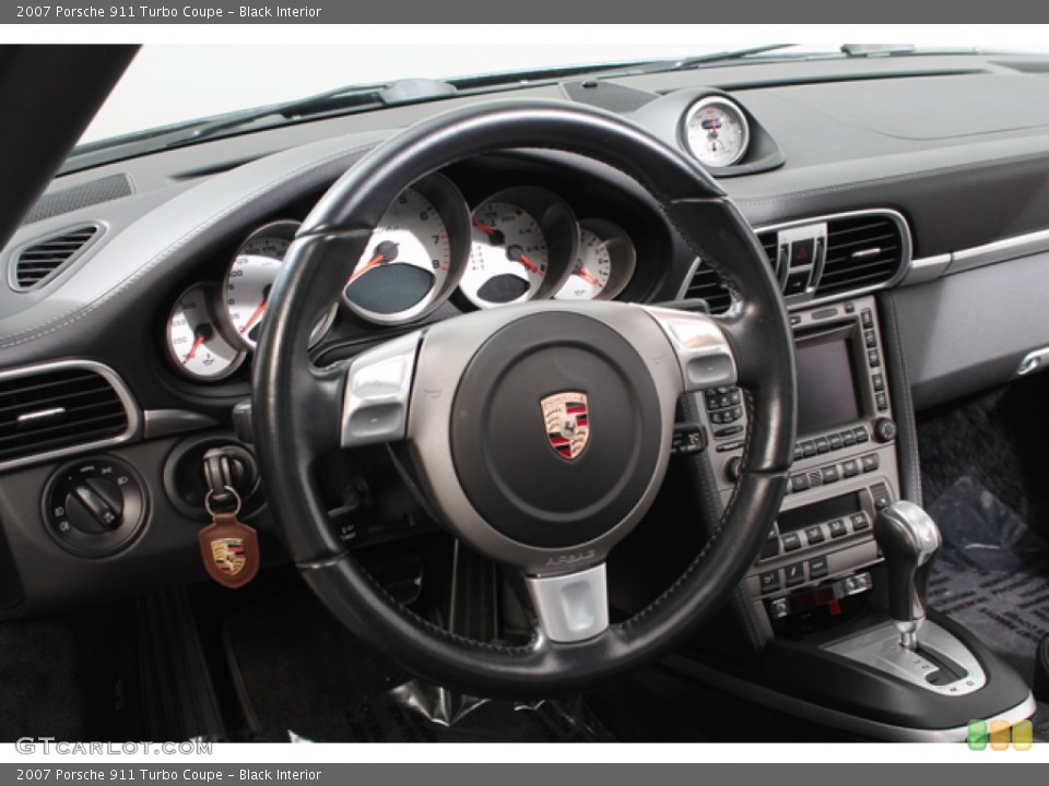 Black Interior Steering Wheel for the 2007 Porsche 911 Turbo Coupe #74633208