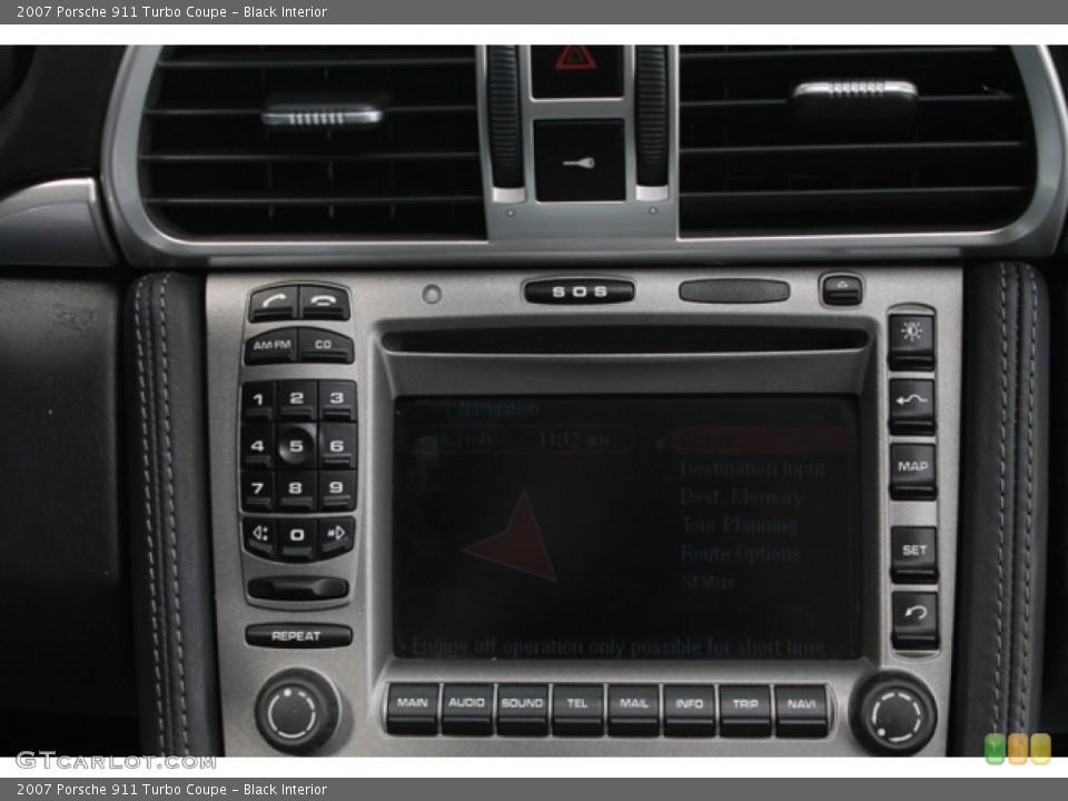 Black Interior Controls for the 2007 Porsche 911 Turbo Coupe #74633280