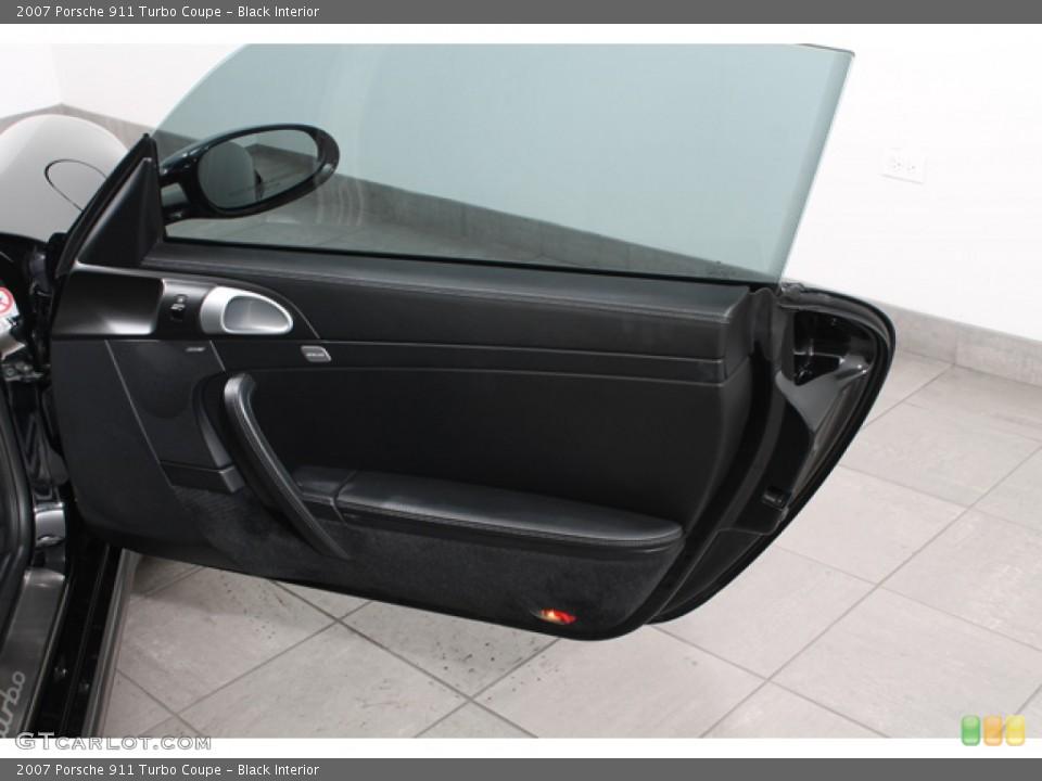Black Interior Door Panel for the 2007 Porsche 911 Turbo Coupe #74633351