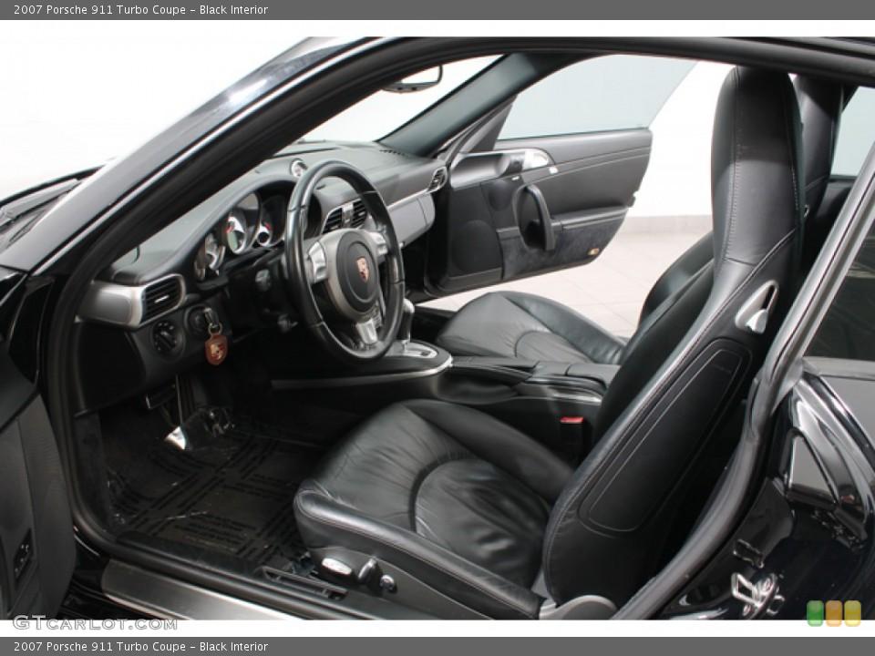 Black Interior Photo for the 2007 Porsche 911 Turbo Coupe #74633436