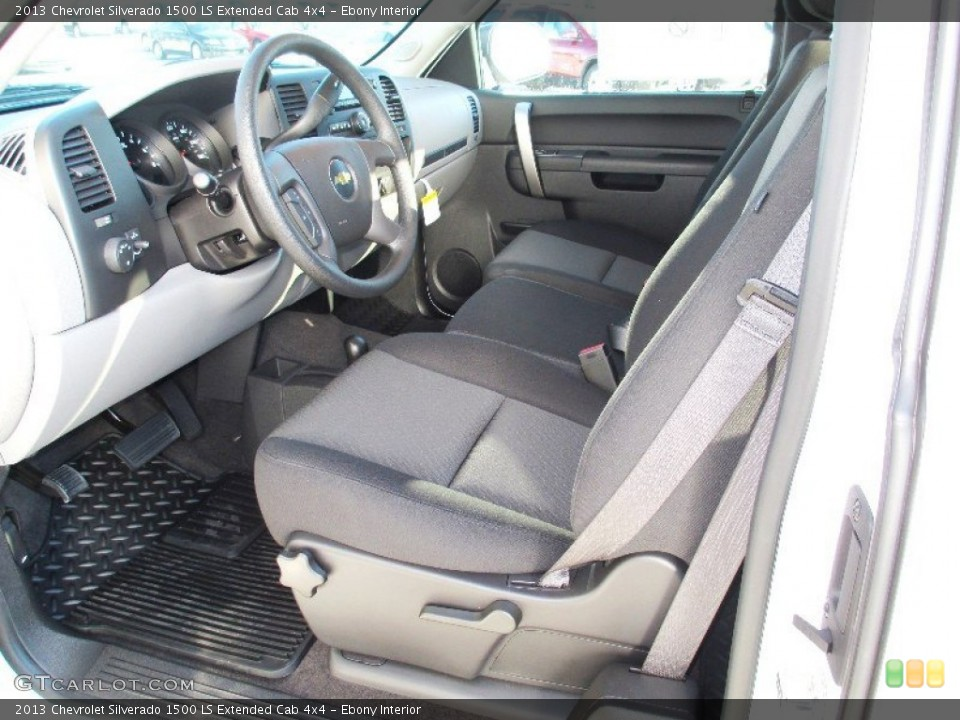 Ebony Interior Photo for the 2013 Chevrolet Silverado 1500 LS Extended Cab 4x4 #74750740
