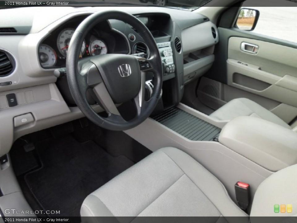 Gray Interior Prime Interior for the 2011 Honda Pilot LX #74768785