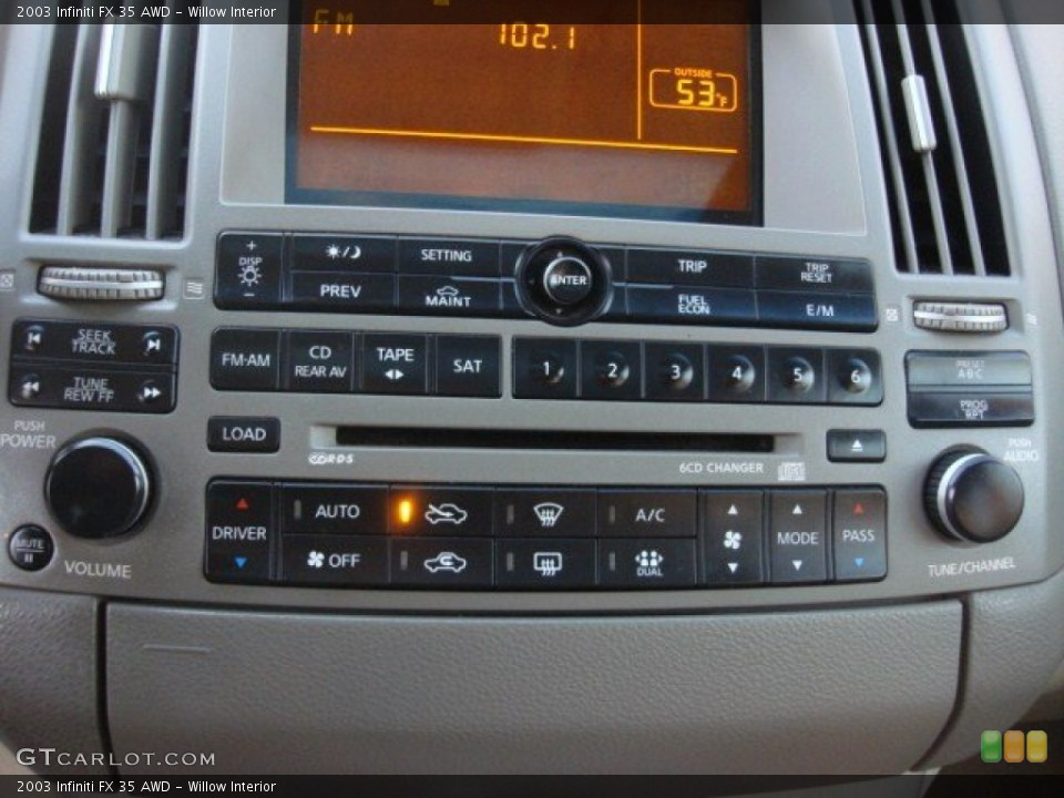 Willow Interior Controls for the 2003 Infiniti FX 35 AWD #74790695