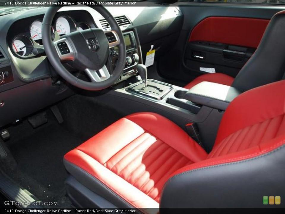 Radar Red/Dark Slate Gray 2013 Dodge Challenger Interiors