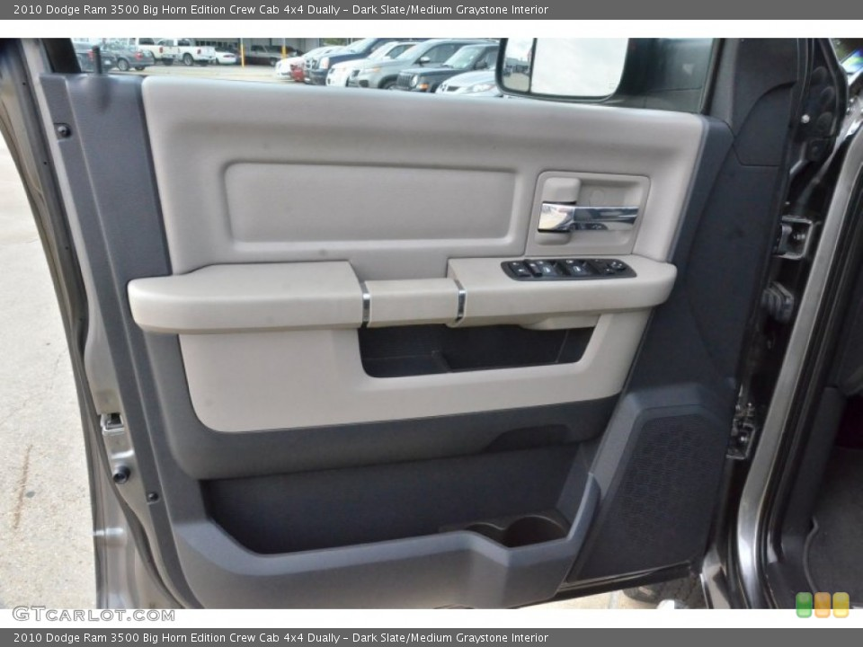 Dark Slate/Medium Graystone Interior Door Panel for the 2010 Dodge Ram 3500 Big Horn Edition Crew Cab 4x4 Dually #74936626