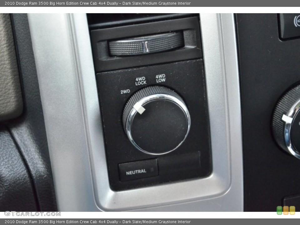 Dark Slate/Medium Graystone Interior Controls for the 2010 Dodge Ram 3500 Big Horn Edition Crew Cab 4x4 Dually #74936851
