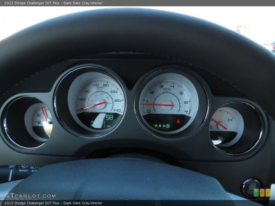 Dark Slate Gray Interior Gauges for the 2013 Dodge Challenger SXT Plus #75013327