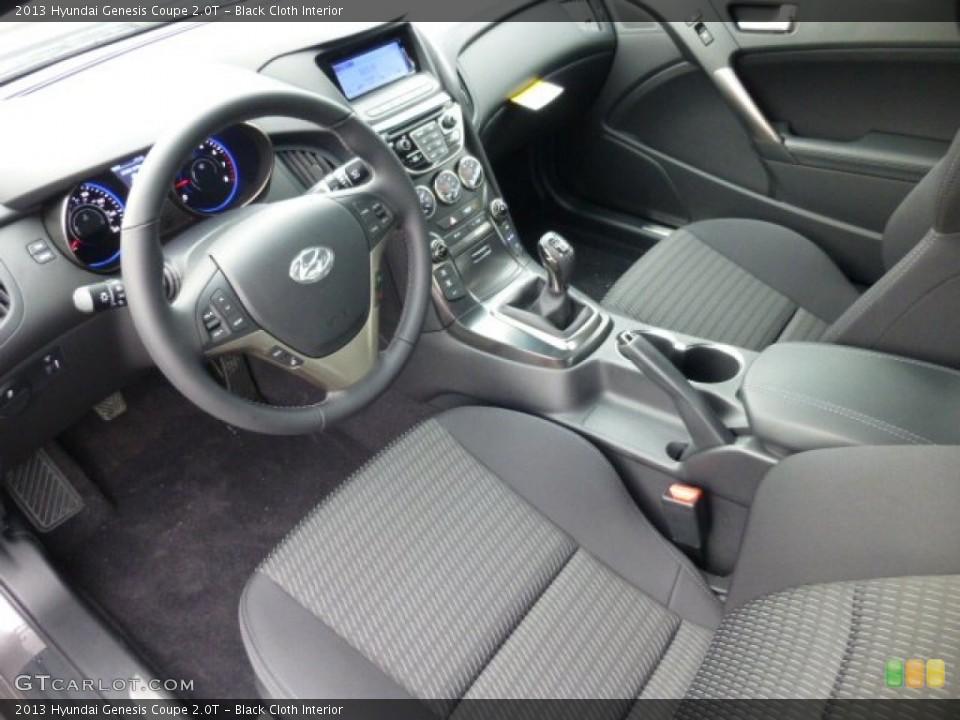 Black Cloth 2013 Hyundai Genesis Coupe Interiors