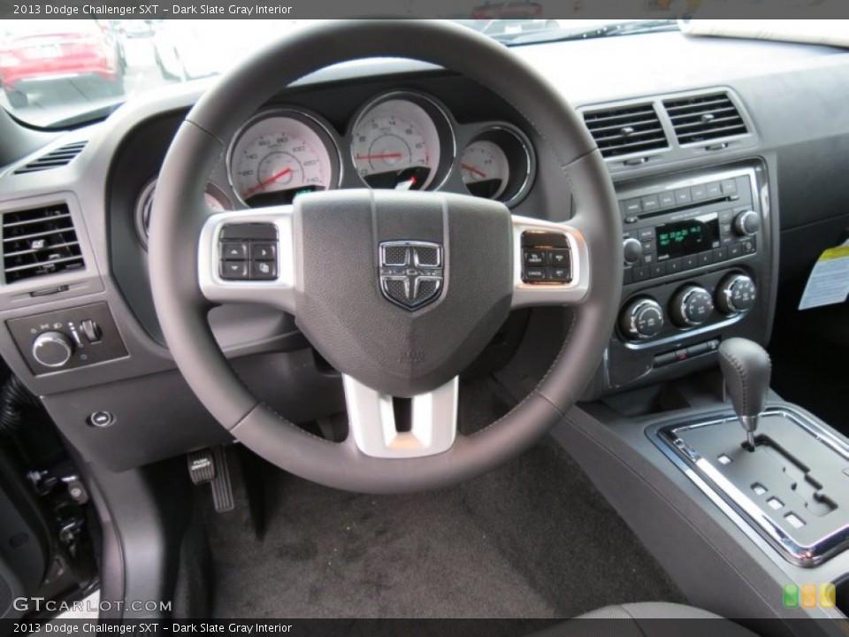 Dark Slate Gray Interior Steering Wheel for the 2013 Dodge Challenger SXT #75175692