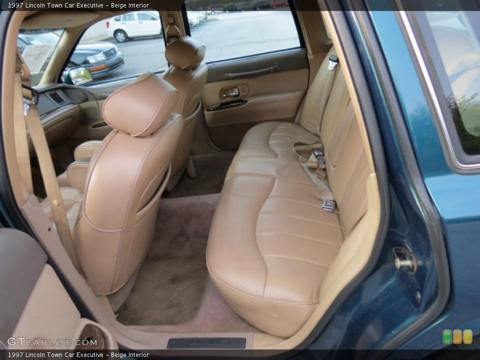 Beige 1997 Lincoln Town Car Interiors