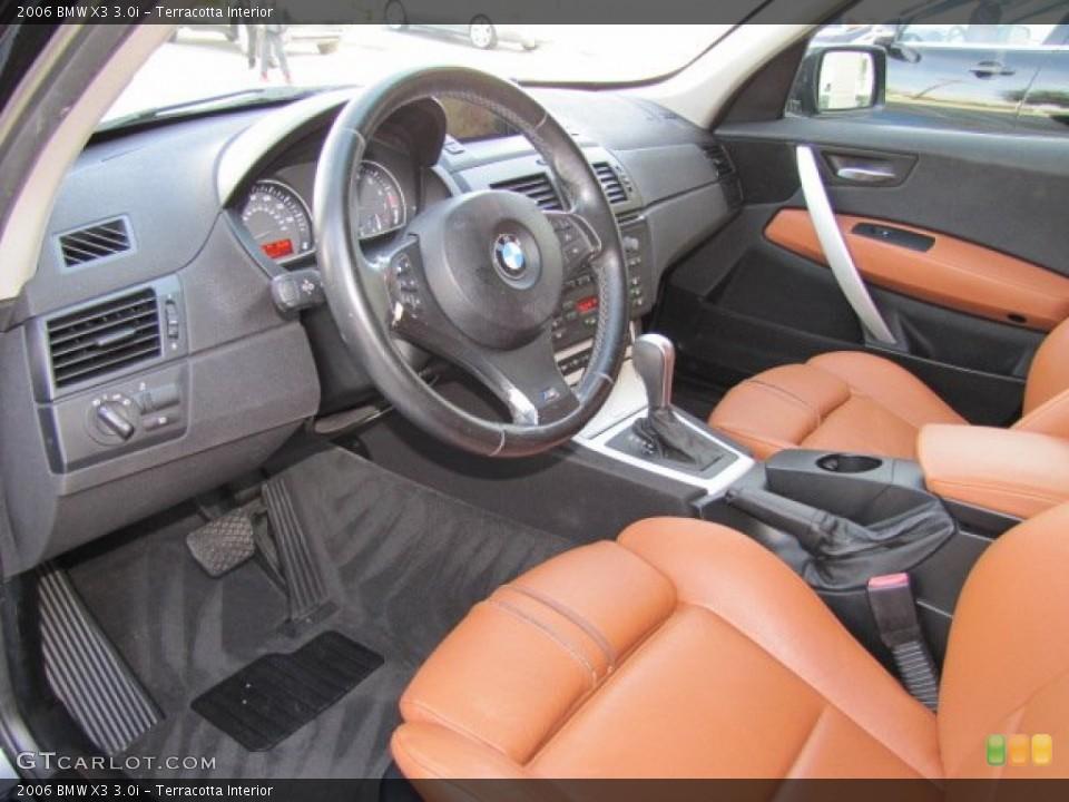 Terracotta 2006 BMW X3 Interiors
