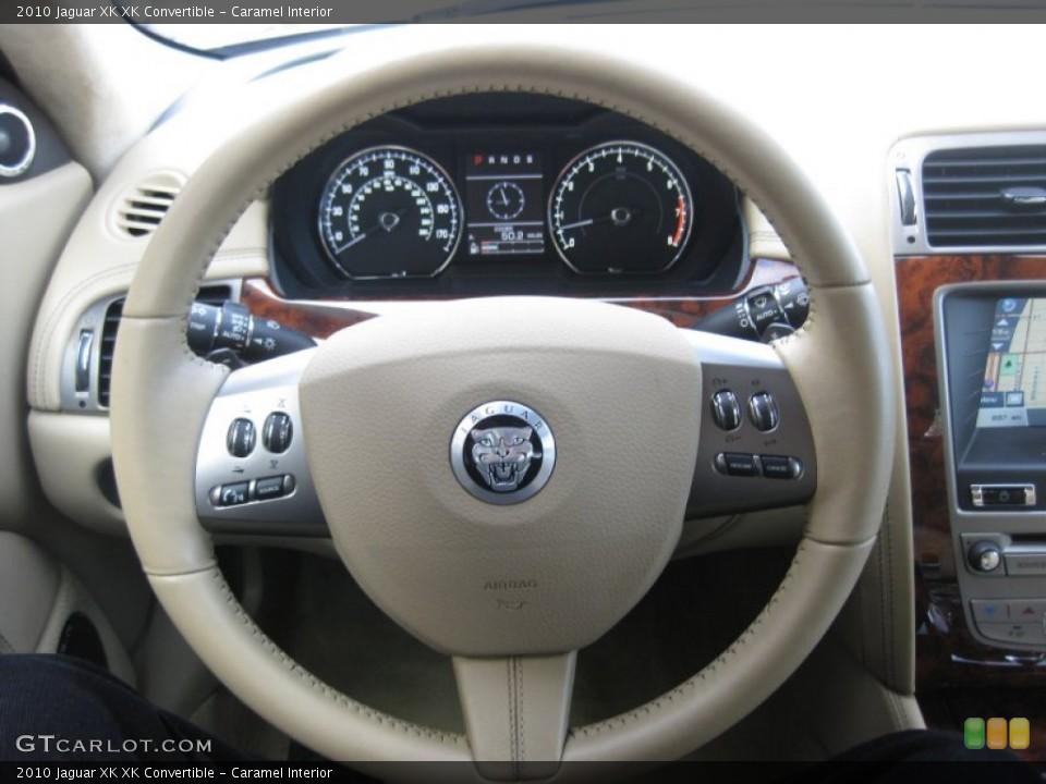 Caramel Interior Steering Wheel for the 2010 Jaguar XK XK Convertible #75208704