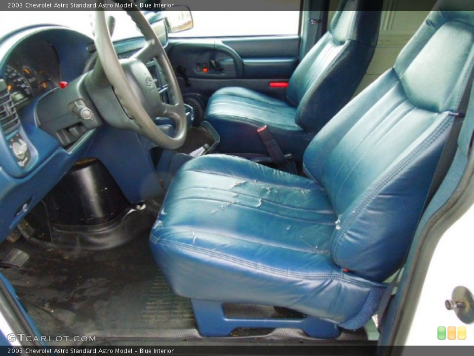 Blue Interior Front Seat for the 2003 Chevrolet Astro  #75377348