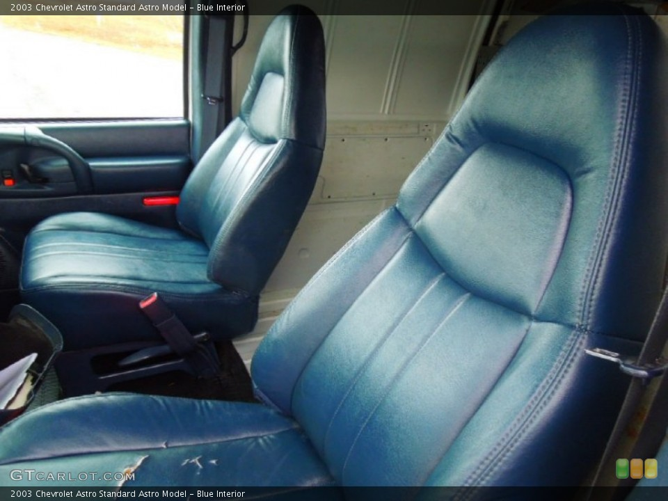 Blue Interior Front Seat for the 2003 Chevrolet Astro  #75377363