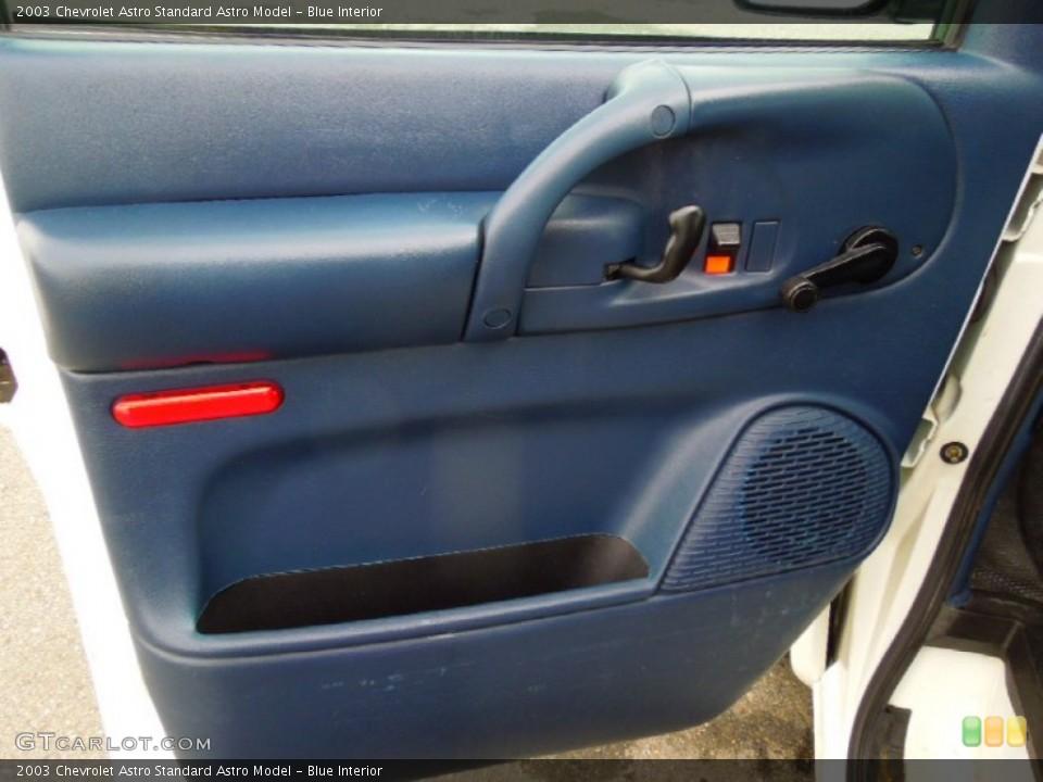 Blue Interior Door Panel for the 2003 Chevrolet Astro  #75377375
