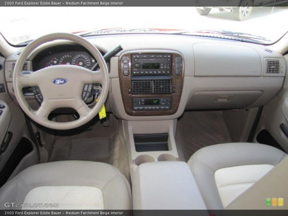Medium Parchment Beige Interior Dashboard for the 2003 Ford Explorer Eddie Bauer #75446161