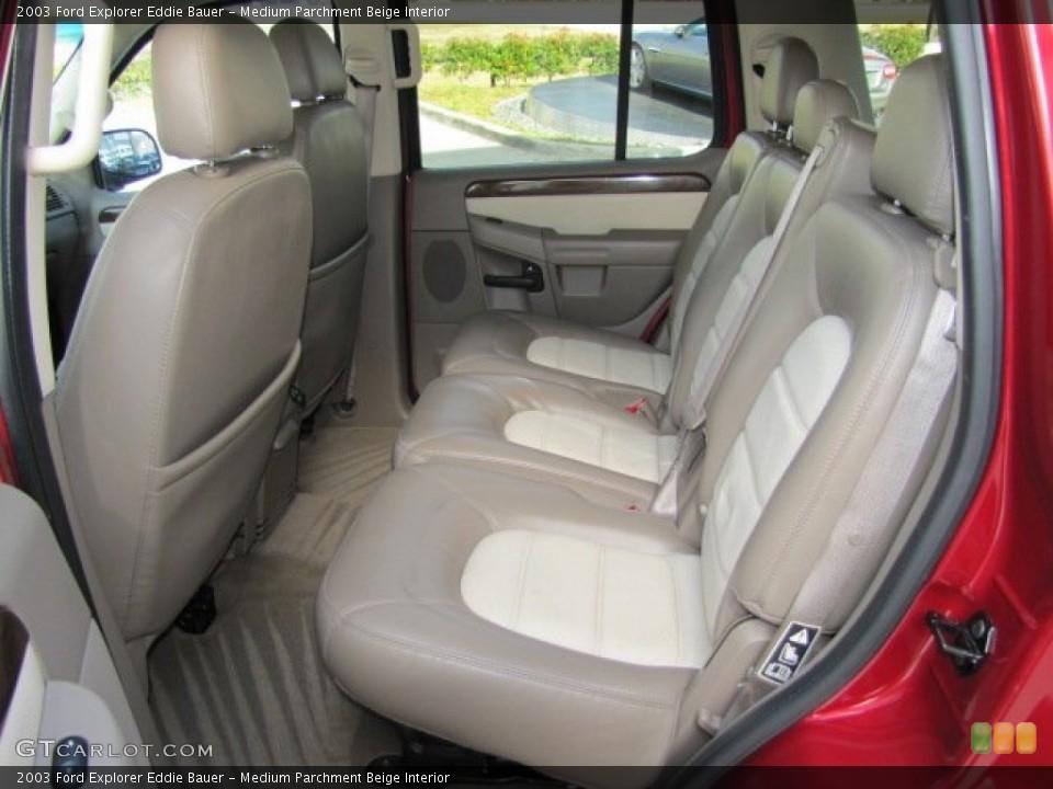 Medium Parchment Beige Interior Rear Seat for the 2003 Ford Explorer Eddie Bauer #75446178
