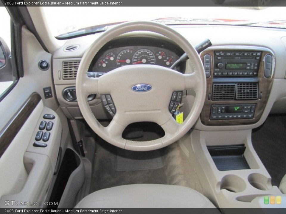 Medium Parchment Beige Interior Dashboard for the 2003 Ford Explorer Eddie Bauer #75446312