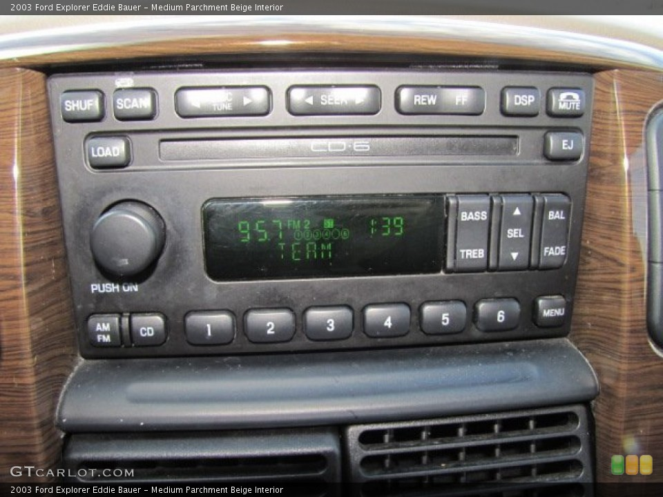 Medium Parchment Beige Interior Audio System for the 2003 Ford Explorer Eddie Bauer #75446412