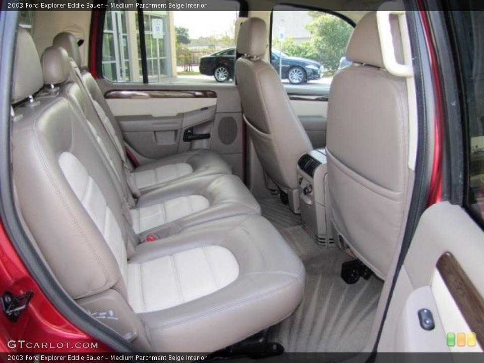 Medium Parchment Beige Interior Rear Seat for the 2003 Ford Explorer Eddie Bauer #75446550