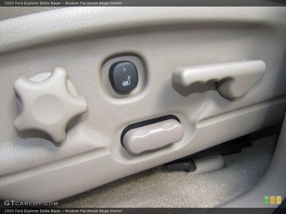 Medium Parchment Beige Interior Controls for the 2003 Ford Explorer Eddie Bauer #75446652