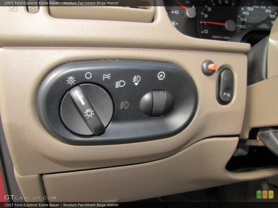 Medium Parchment Beige Interior Controls for the 2003 Ford Explorer Eddie Bauer #75446681