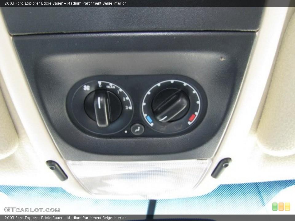 Medium Parchment Beige Interior Controls for the 2003 Ford Explorer Eddie Bauer #75446724