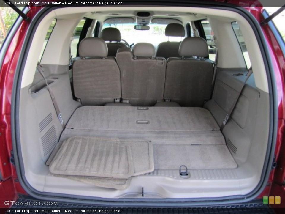 Medium Parchment Beige Interior Trunk for the 2003 Ford Explorer Eddie Bauer #75447070