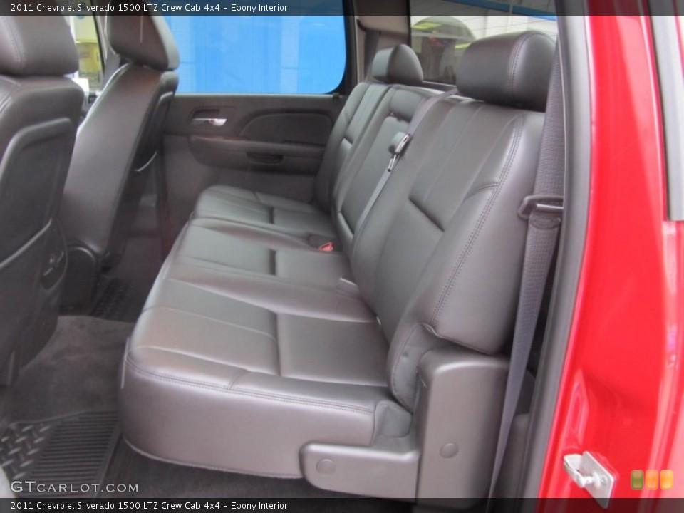 Ebony Interior Rear Seat for the 2011 Chevrolet Silverado 1500 LTZ Crew Cab 4x4 #75465164