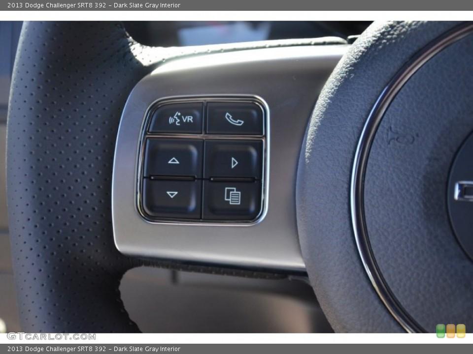 Dark Slate Gray Interior Controls for the 2013 Dodge Challenger SRT8 392 #75497351