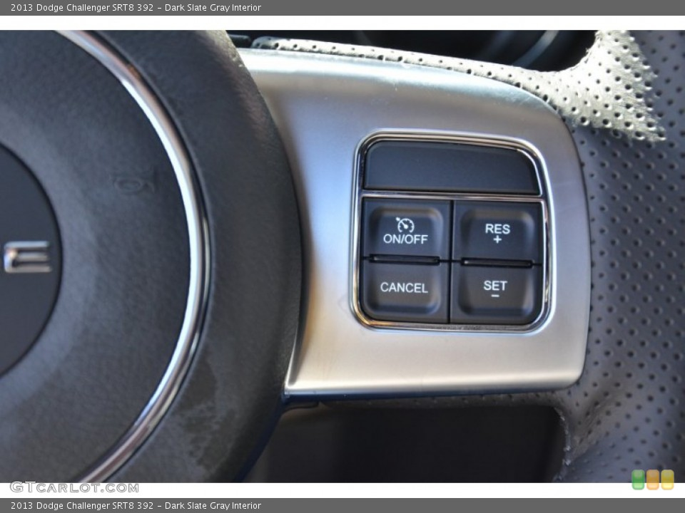 Dark Slate Gray Interior Controls for the 2013 Dodge Challenger SRT8 392 #75497367