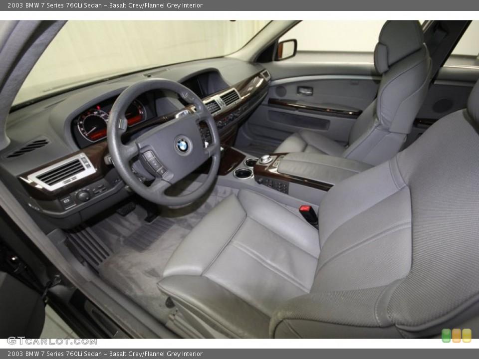 Basalt Grey/Flannel Grey 2003 BMW 7 Series Interiors