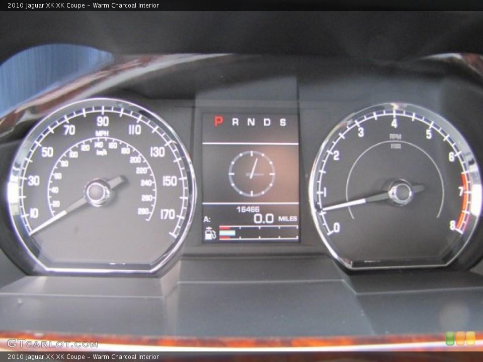 Warm Charcoal Interior Gauges for the 2010 Jaguar XK XK Coupe #75632526